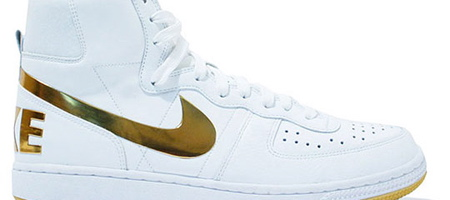Nike Terminator High Supreme –White & Gold