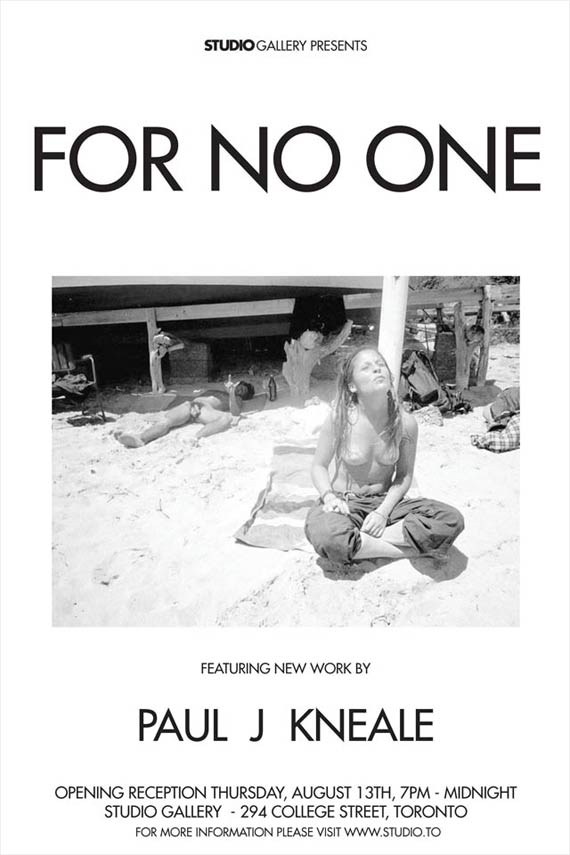 Paul J Kneale: For No One Exhibition