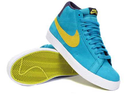 Aquamarine Electrolime Nike Blazer SB Premium 1