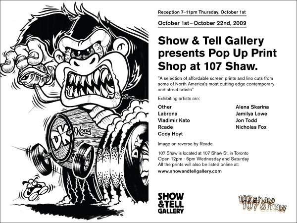 Show & Tell Gallery Pop Up Shop 1