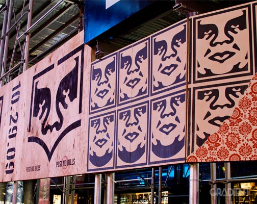 Shepard Fairey x Levi's Times Square Event 1
