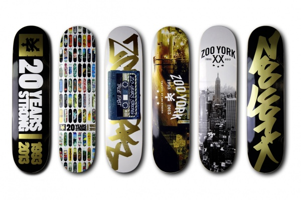Zoo York 20th Anniversary Skateboard Deck Collection