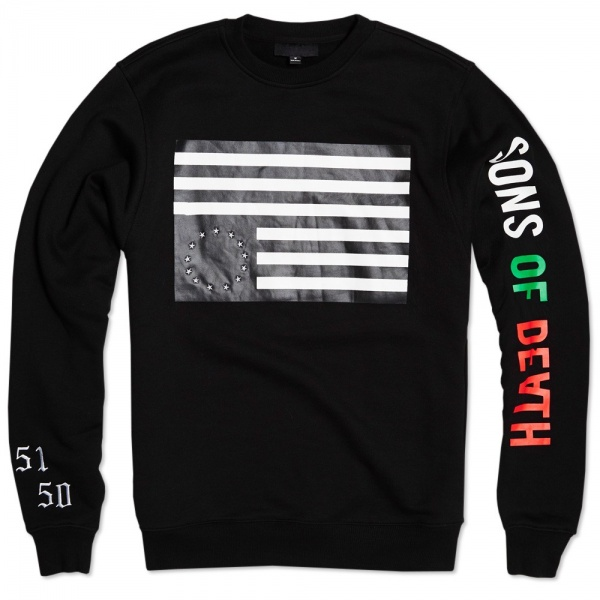 Black Scale Rebel Crew Neck