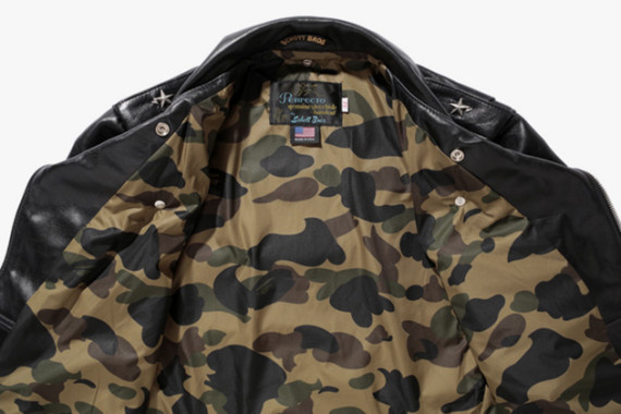 A Bathing Ape x Schott's One Star Riders Jacket