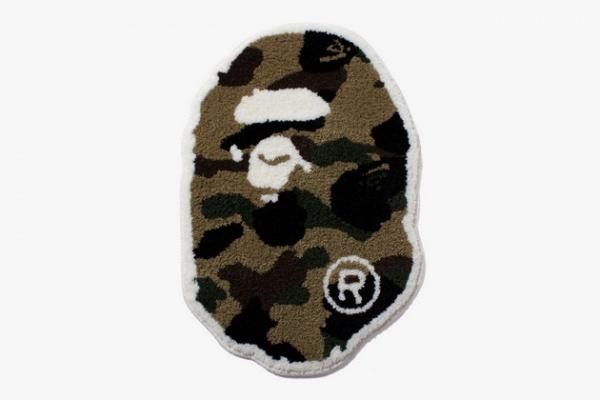 BAPE 1st Camo Ape Head Rug