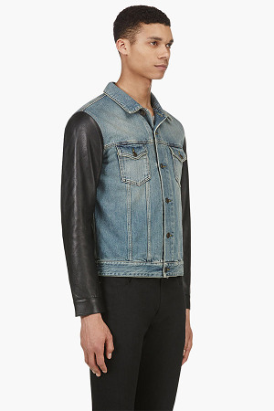 Saint Laurent Denim Leather Jacket